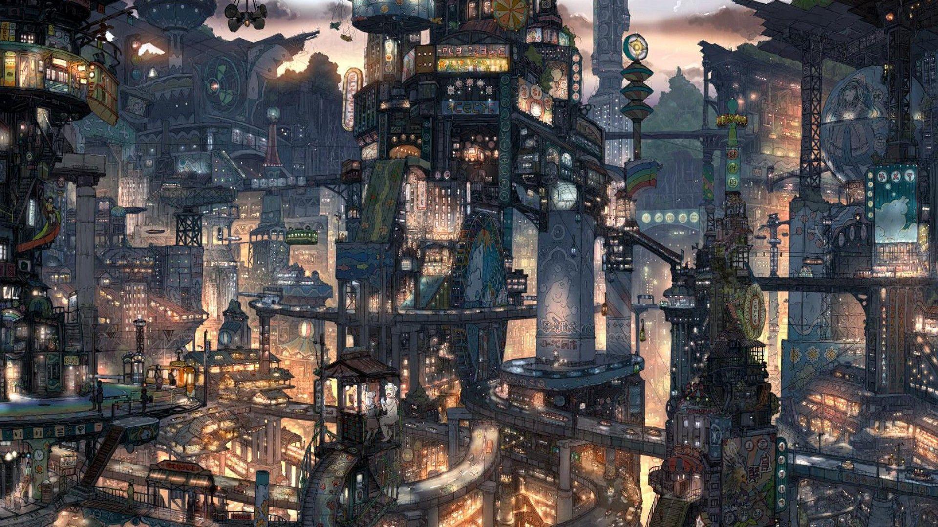 Rain City Wallpaper rain city wallpaper anime scenery wallpaper rain | anime wallpaper