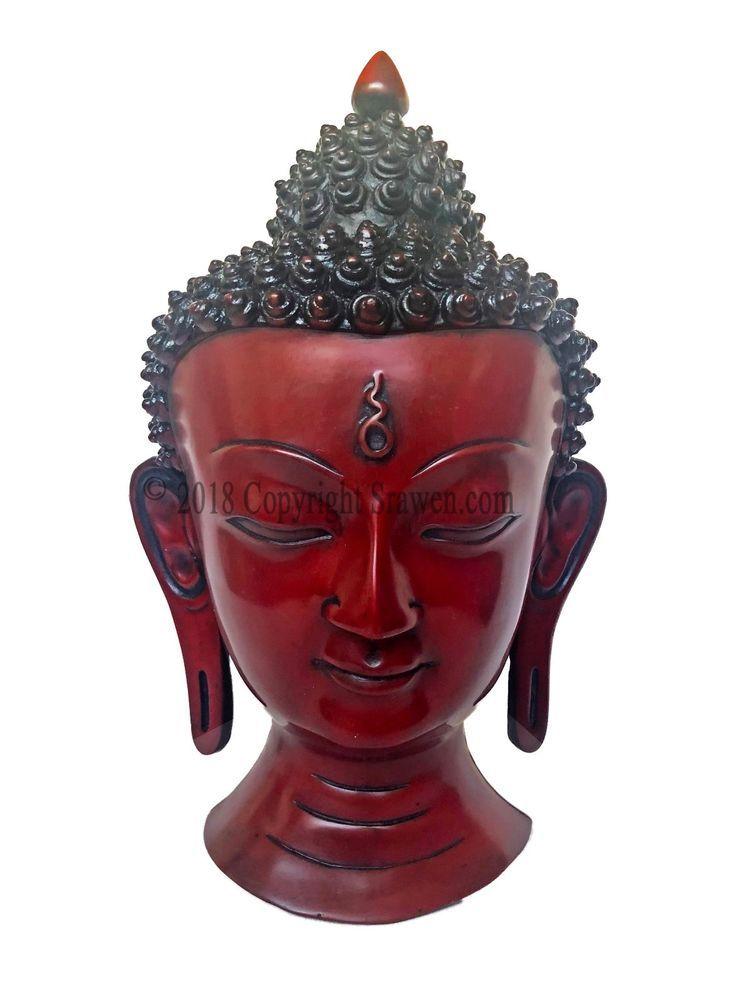 8 inch Buddha Tara Mask Resin Home Decor Hand Craved