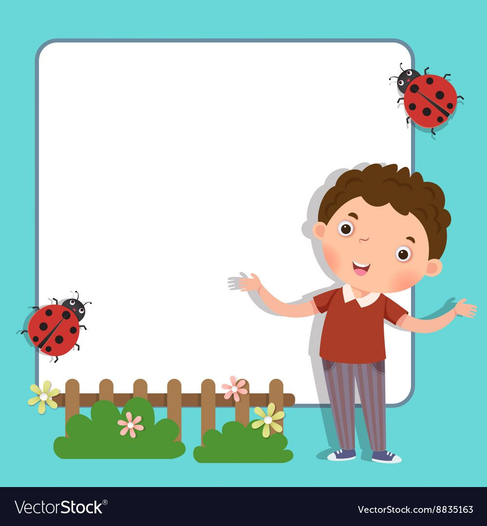 Background With Cute Boy Download A Free Preview Or High Quality Adobe Illustrator Ai Eps Pdf And Hi Cute Paintings Diy Canvas Art Painting Clip Art Borders