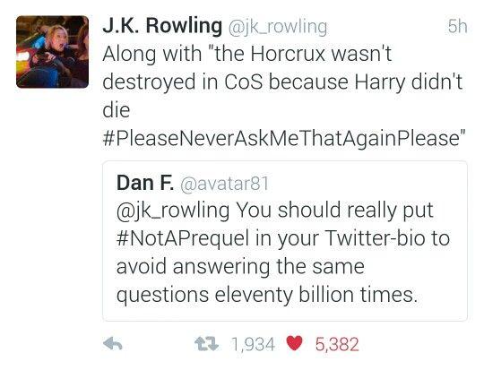 Hahaha. #jkrowlingontwitter