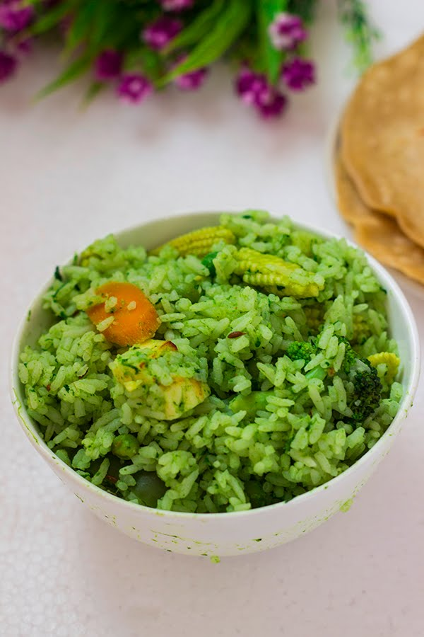 Palak Rice / Spinach Rice in 2020 Spinach rice, Indian