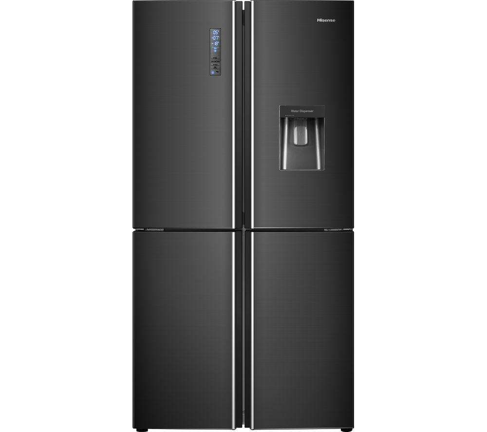 Buy Hisense Rq689n4wf1 Fridge Freezer Black Steel Free Delivery Currys Fridge Freezers Black Steel Freezer