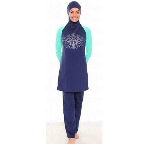Women Modest Swimsuit Muslim Islamic Full Cover Swimwear Girl Swimming Beachwear
