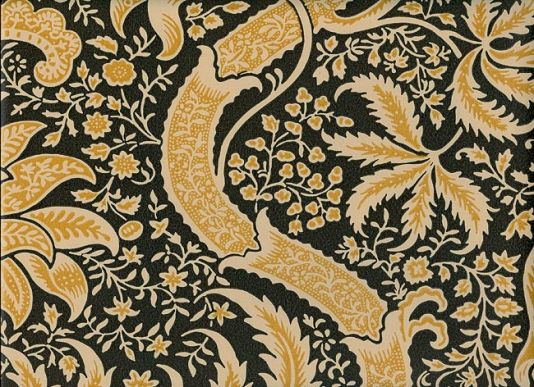 Indian Wallpaper An Archive Design With Inspiration Taken From 18th Century Indienne In Cream Gold And Black