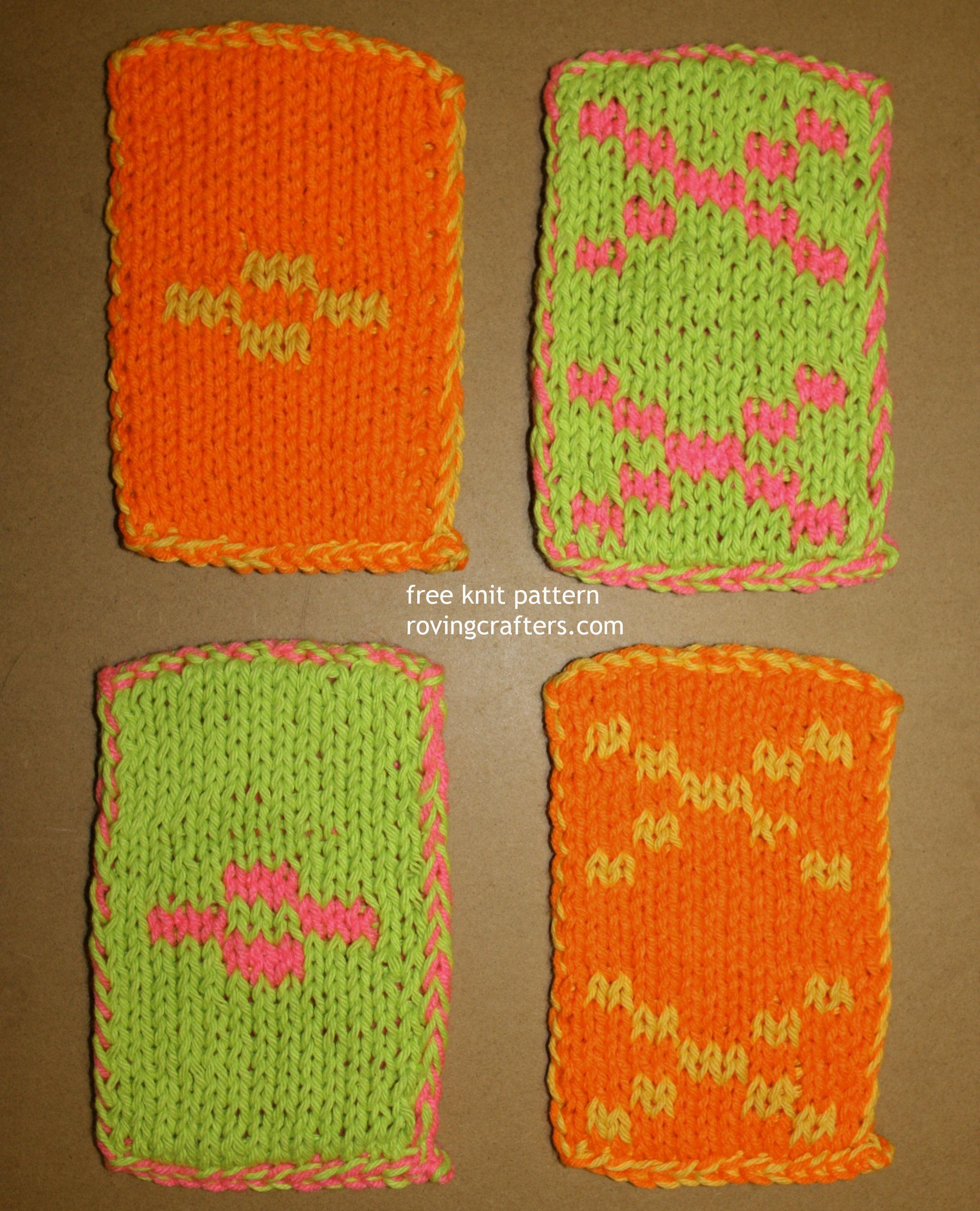 free knit pattern - double sided pot scrubbers   Knitting Patterns ...