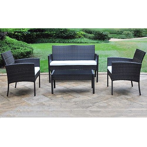 portsea patio 4pc set outdoor furniture rattan wicker mixed rh pinterest com All Weather Wicker Furniture cheap wicker outdoor furniture online
