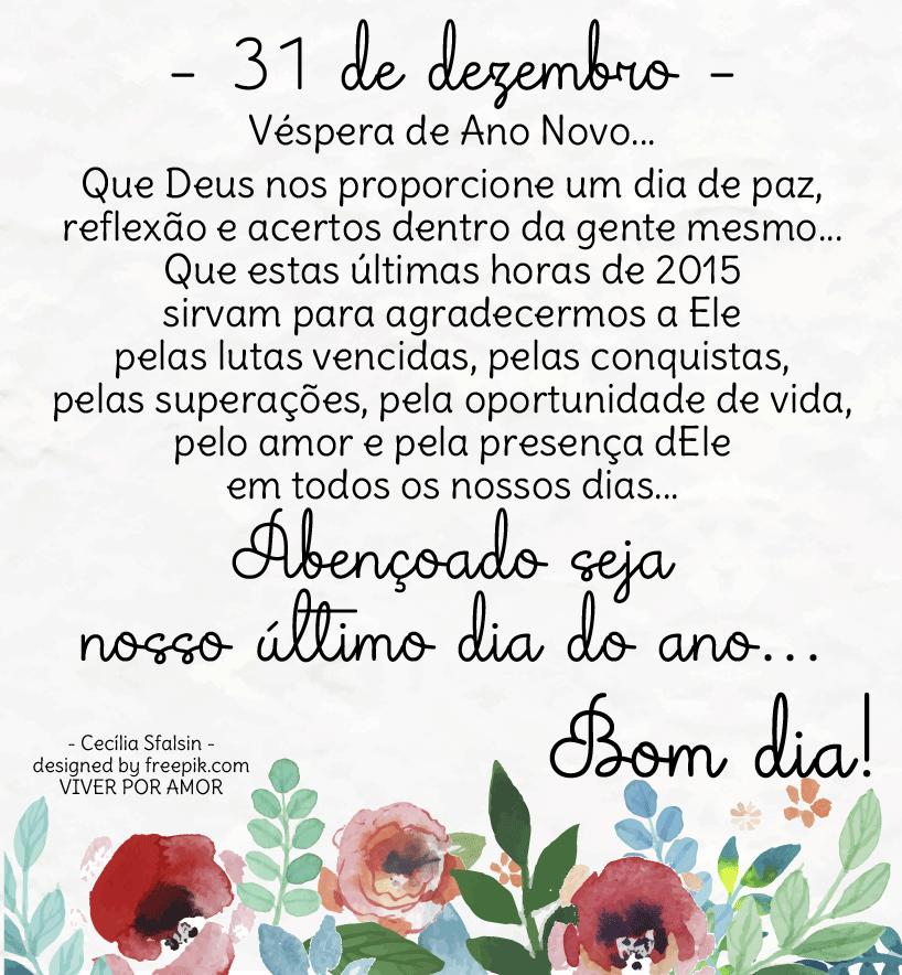 31 De Dezembro Frase último Dia Do Ano Datas Comemorativas 12