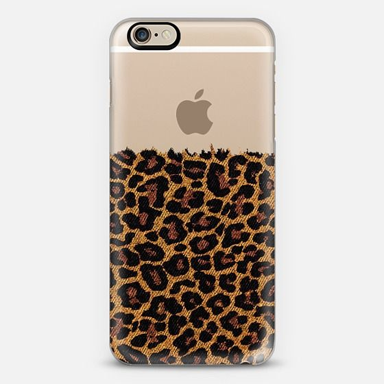Classic Faux Denim Leopard Transparent iPhone 6 Case by Organic Saturation | Casetify. Get $10 off using code: 53ZPEA