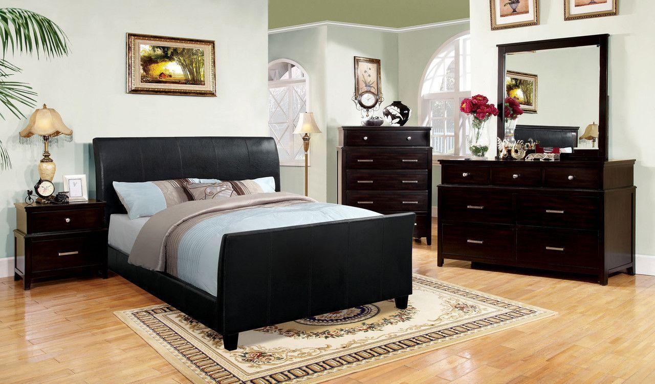 maynard 4pcs queen bedroom set cm7947ex queen bed night stand