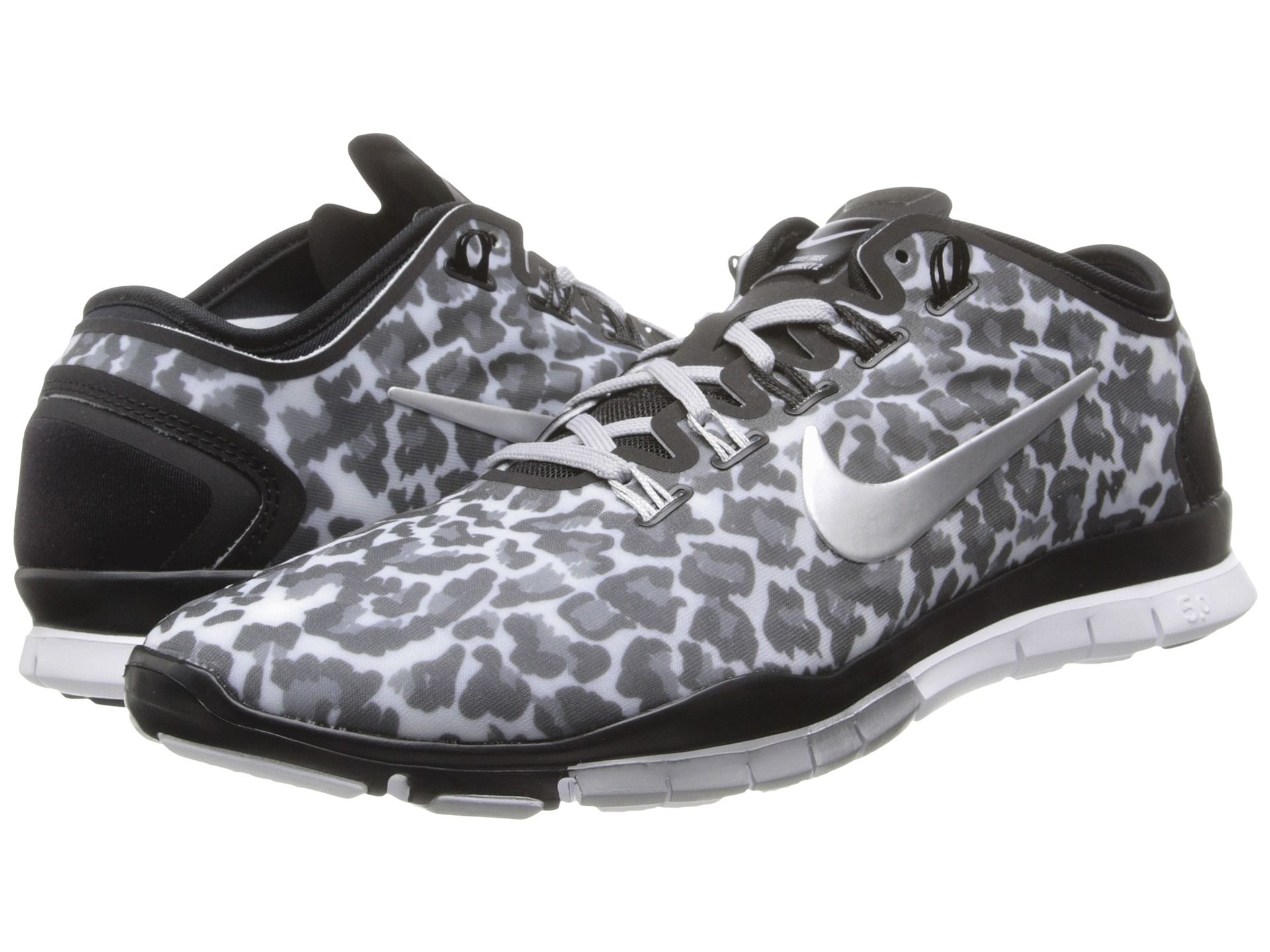 nike womens free tr connect 2 training shoe pink cheetah background