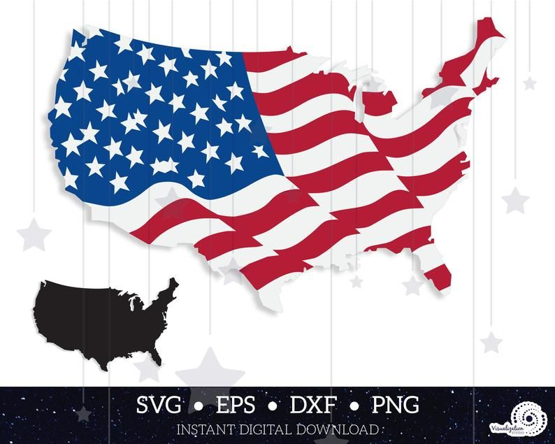 America Country Shape Waving Flag Vector Set Instant Etsy Flag Vector Wave Clipart Flag