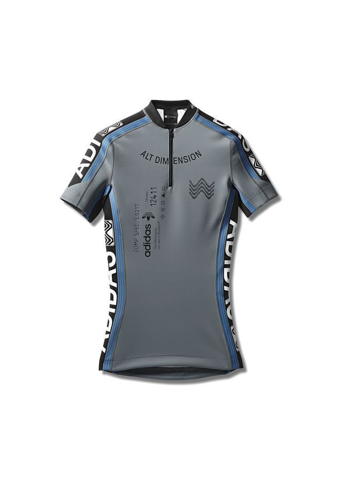 6e4f41308af Alexander Wang Adidas Orignals By Aw Cycling Jersey - Gray XS ...