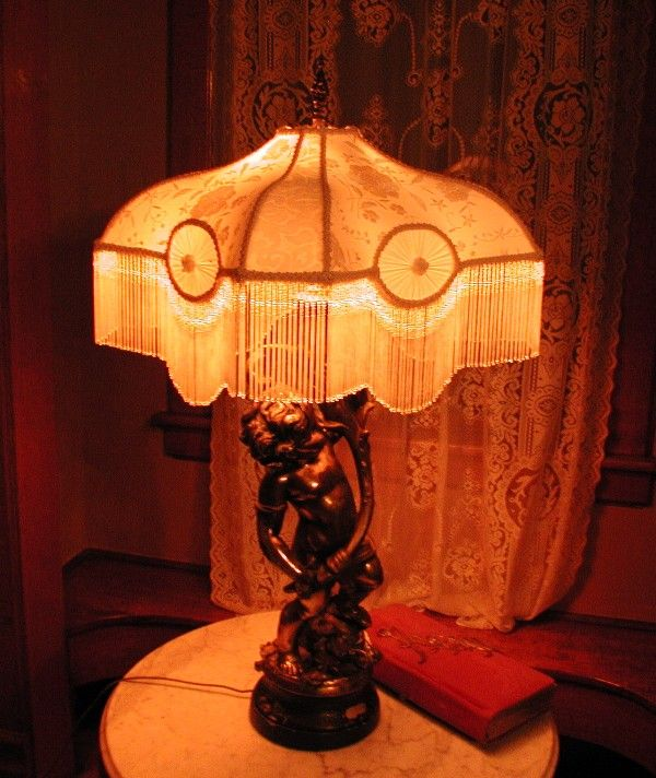 Victorian Beaded Lamp Shade