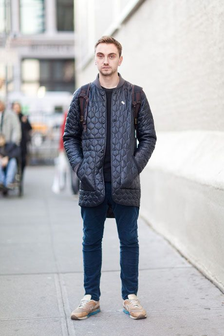Street Style: The Modern Man's Puffer Jacket: The Daily Details: Blog :  Details Tim Sturmheit Buyer oki-ni Jacket:… | Mens outfits, Modern man,  Handsome style