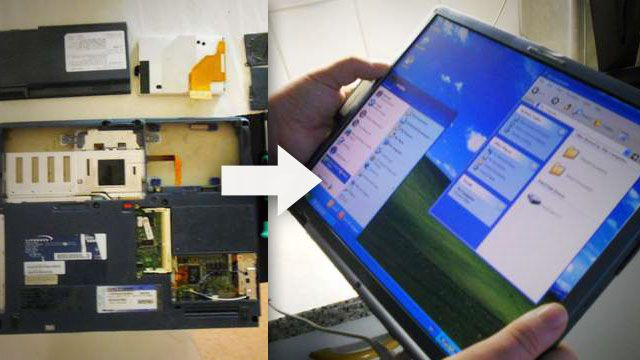 How to make a tablet pc from an old laptop - 4