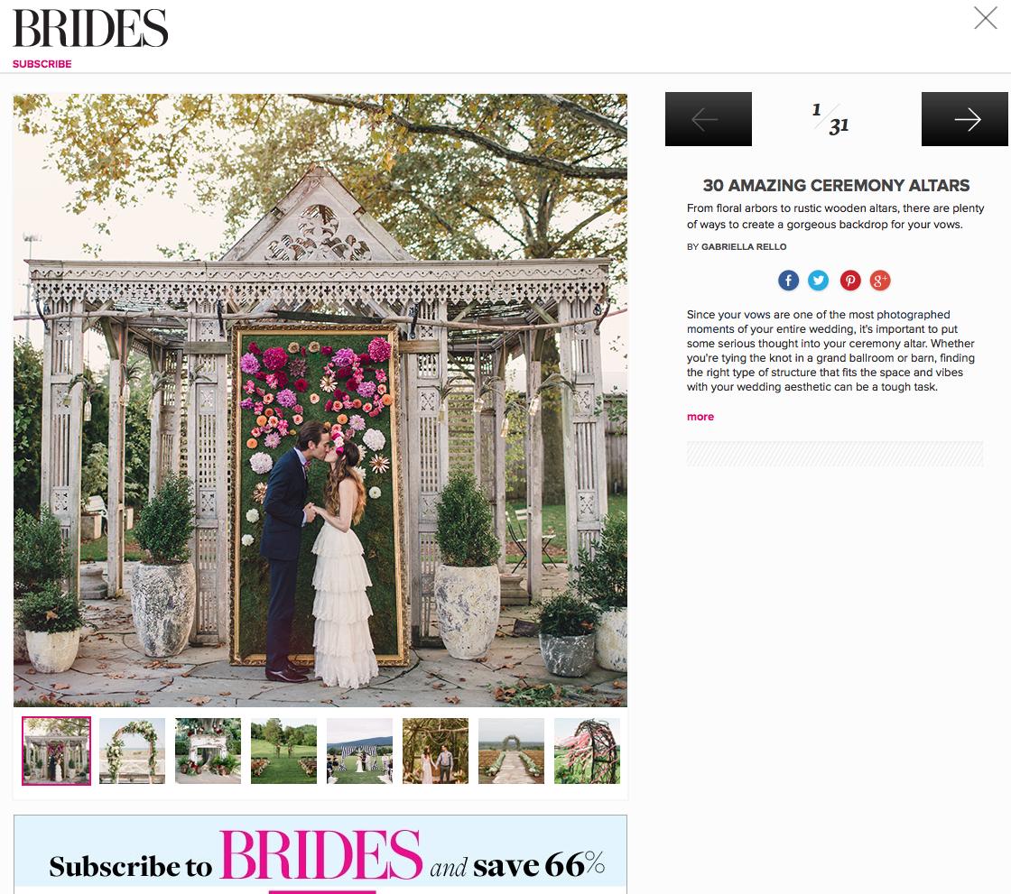 Thanks BRIDES for including us. www.cedarwoodweddings http://www.brides.com/wedding-ideas/2014/08/unique-wedding-ceremony-altar-ideas#slide=1 #uniqueweddingaltars #weddinginspiration #cedarwoodweddings