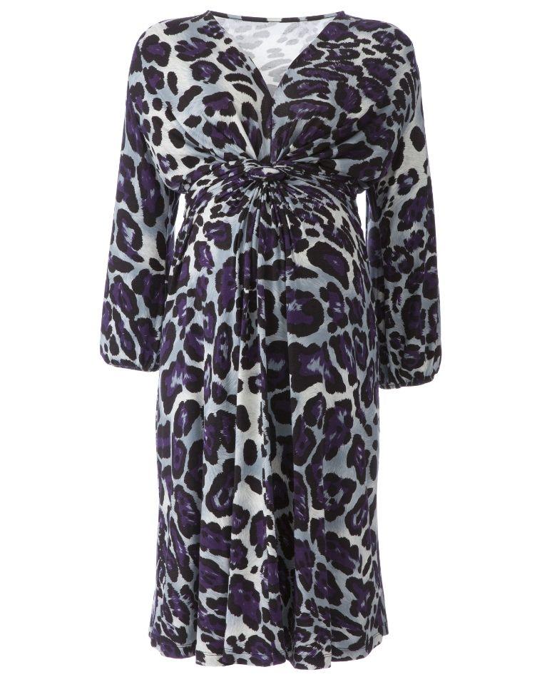 4c0e479fb3f Plus Size Maternity dress in super cute purple leopard