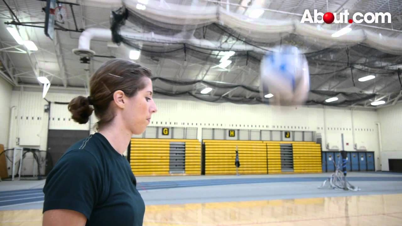 How To Do An Overhand Volleyball Serve Volleyball Serve Youth Volleyball Volleyball Skills