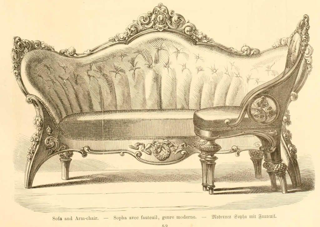 Dessins de mobilier tir s de catalogues de meubles de 1871 french treasures - Chaise design suisse ...
