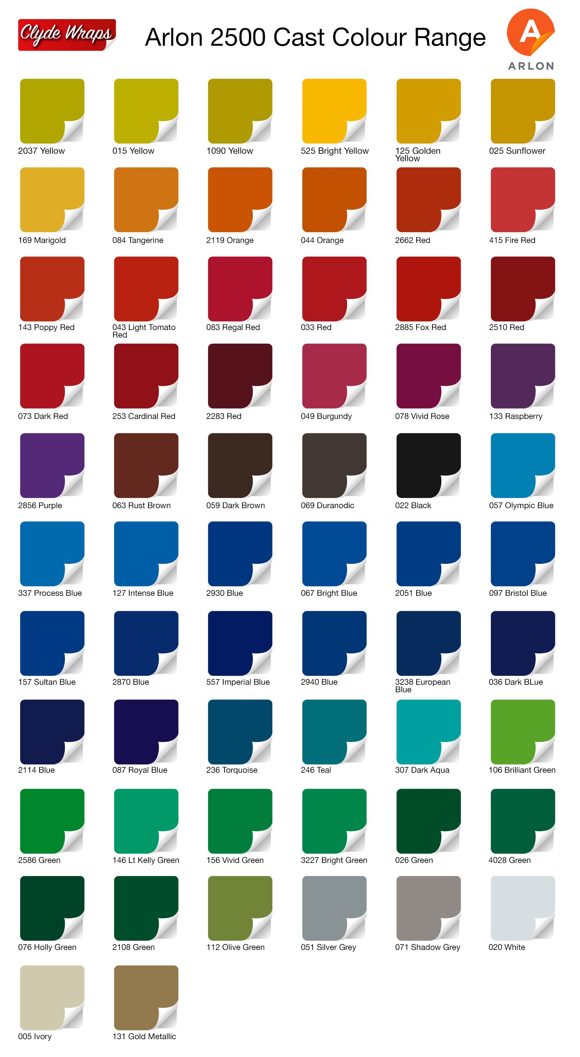 Image Result For Avery Vinyl Wrap Color Chart Taco Vinyl Wrap