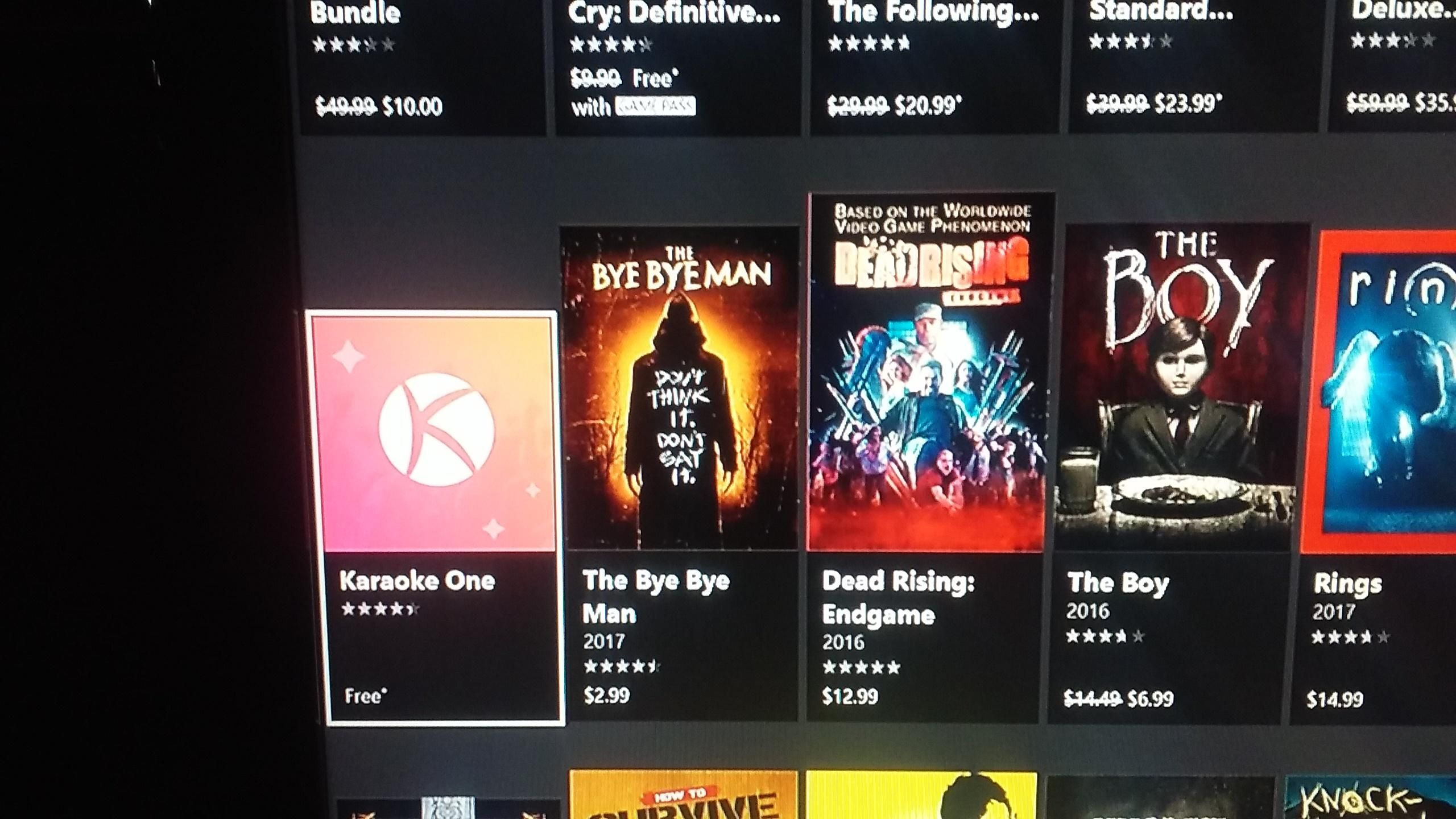 When you're looking through shocktober sales on Xbox and find karaoke as a spooky game.