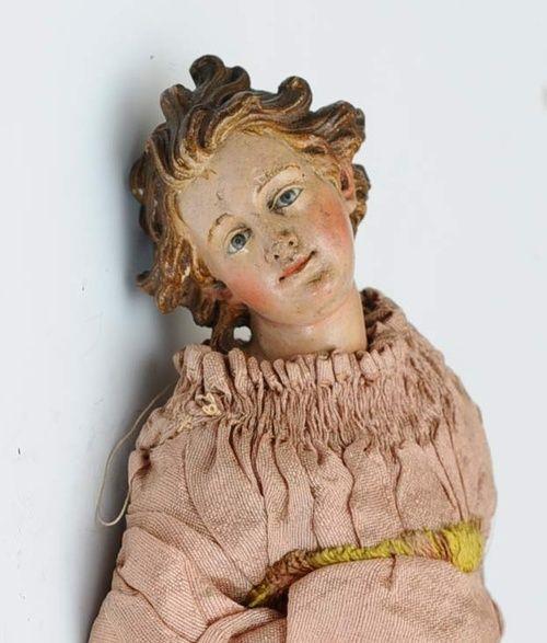 French polychrome angel
