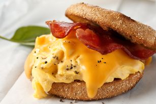 Grab-and-Go Breakfast Sandwich recipe #bacon #egg #cheese