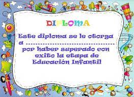 Resultado de imagen para diplomas de preescolar para descargar gratis