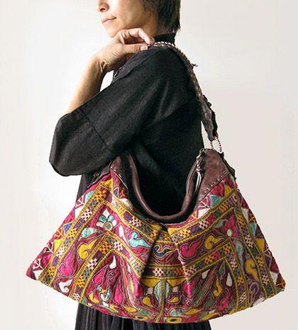 インドミラー刺繍プレミアムバッグ - アジアン衣料・アジアン雑貨のRisi e bisi(リジェビジ)