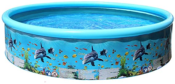 Wasvidra Inflatable Pool Inflatable Water Park Kiddie Pool Summer Family Blowup Swimming Pool For Kids Adul Kiddie Pool Inflatable Pool Kid Pool