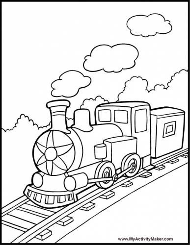 train color pages free printable # 72