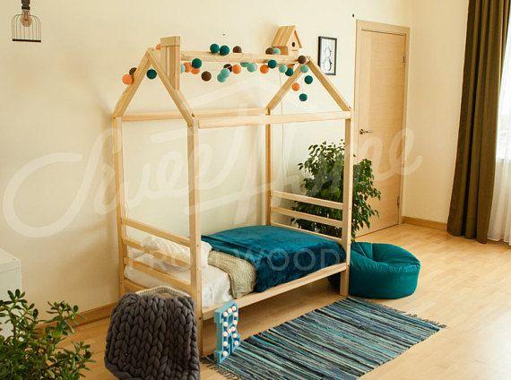 Kids bedroom home bed FULL/ QUEEN size with 2 HEABOARDS