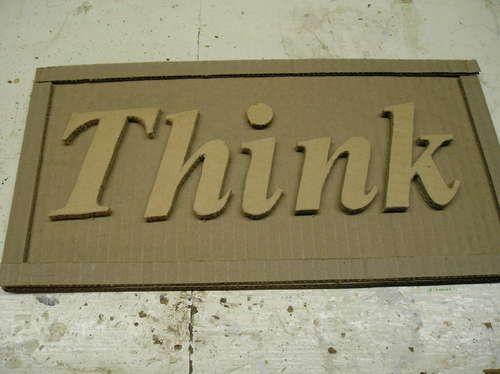 Make Signs Out Of Cardboard Cardboard Decor Cardboard Art Cardboard Picture Frames