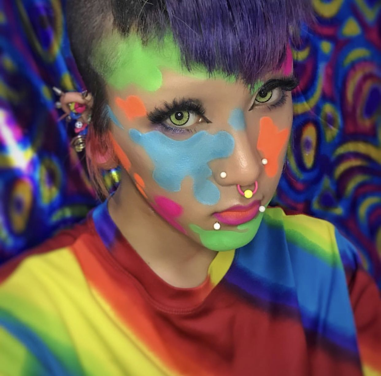 Add some real colour to your look with neon makeup neon