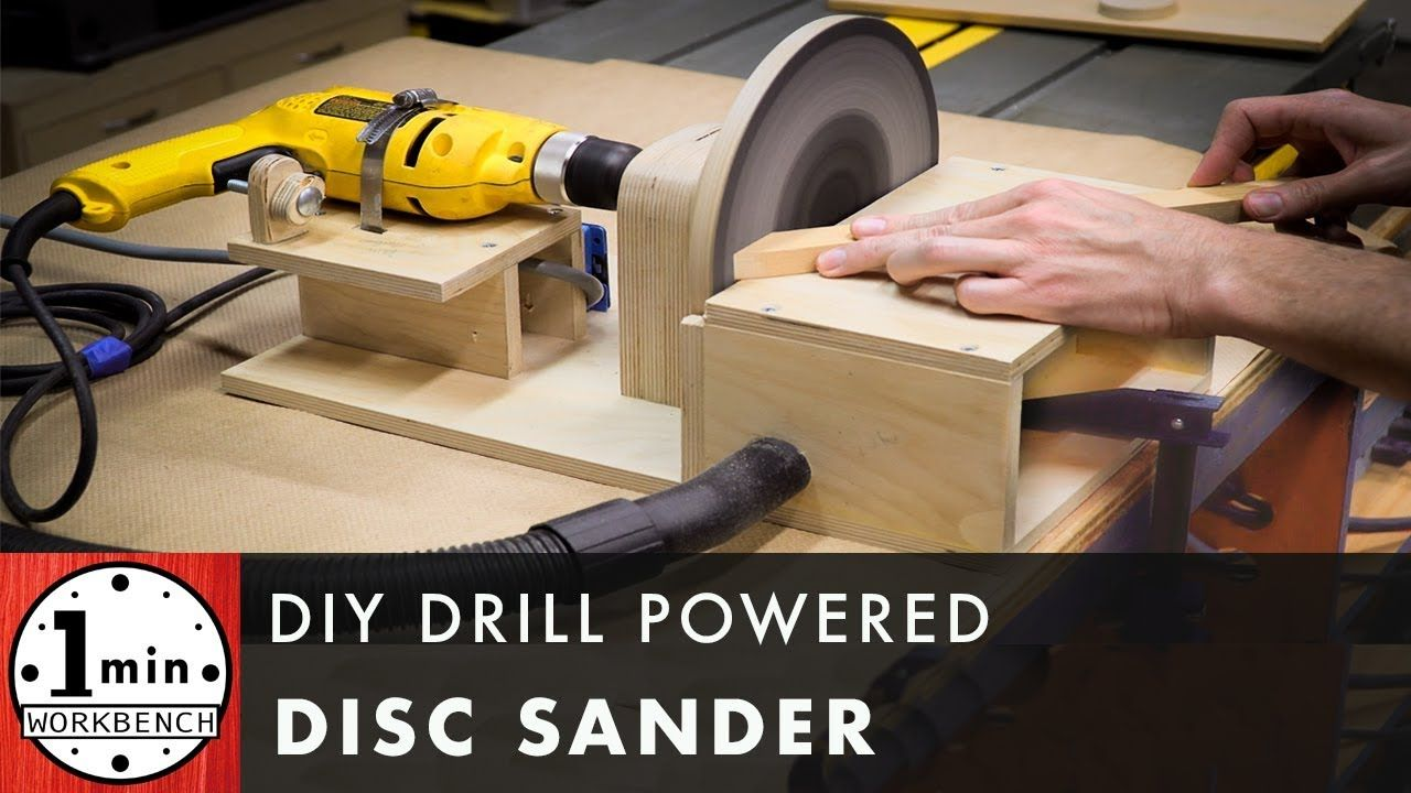 Diy Drill Powered Disc Sander Drill Woodworking Diy Tools Homemade