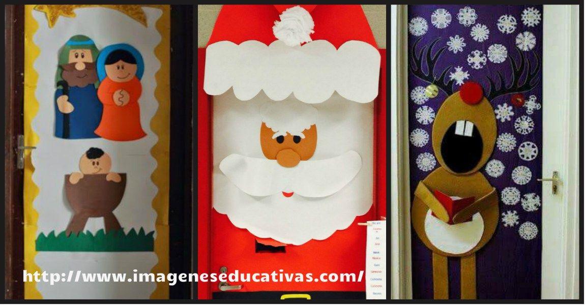101 ideas para decorar la puerta de tu clase o salón en Navidad
