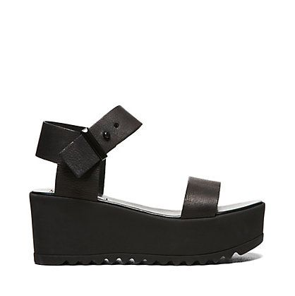 9cff1b53406 Black Platform Wedge Sandals