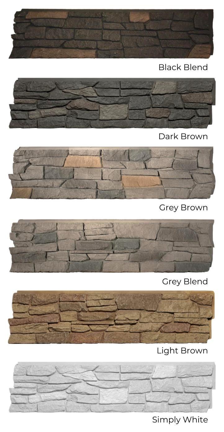 Quality Stone Ridge Stone All Colours Black Blend Dark