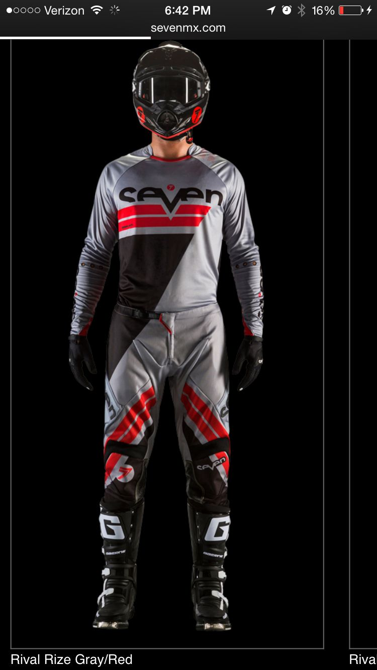 The Gray Black And Red Gear Dirt Bike Gear Bike Leathers Bike Gear