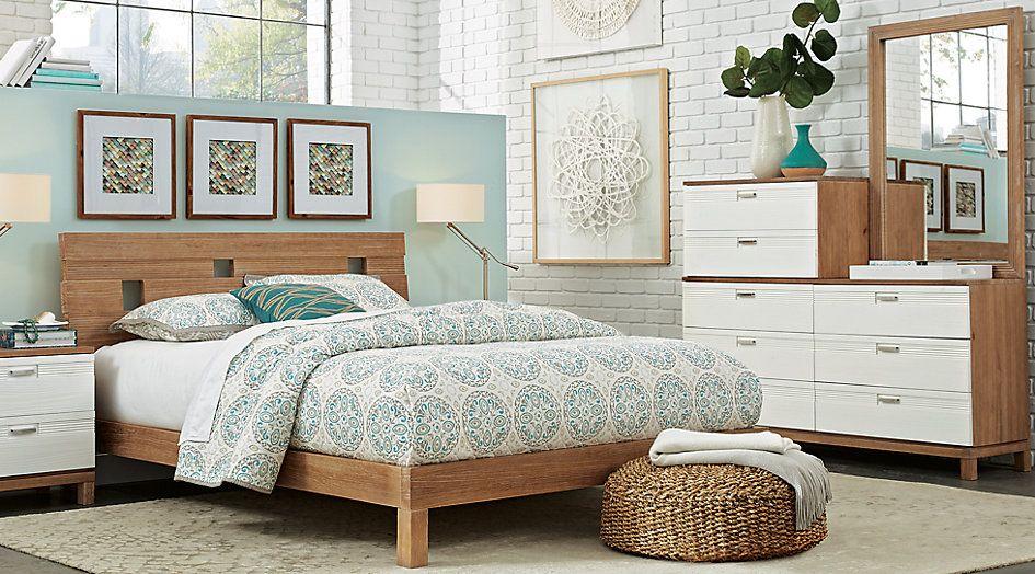 Gardenia Pecan 7 Pc King Platform Bedroom in 2018 Dream Home