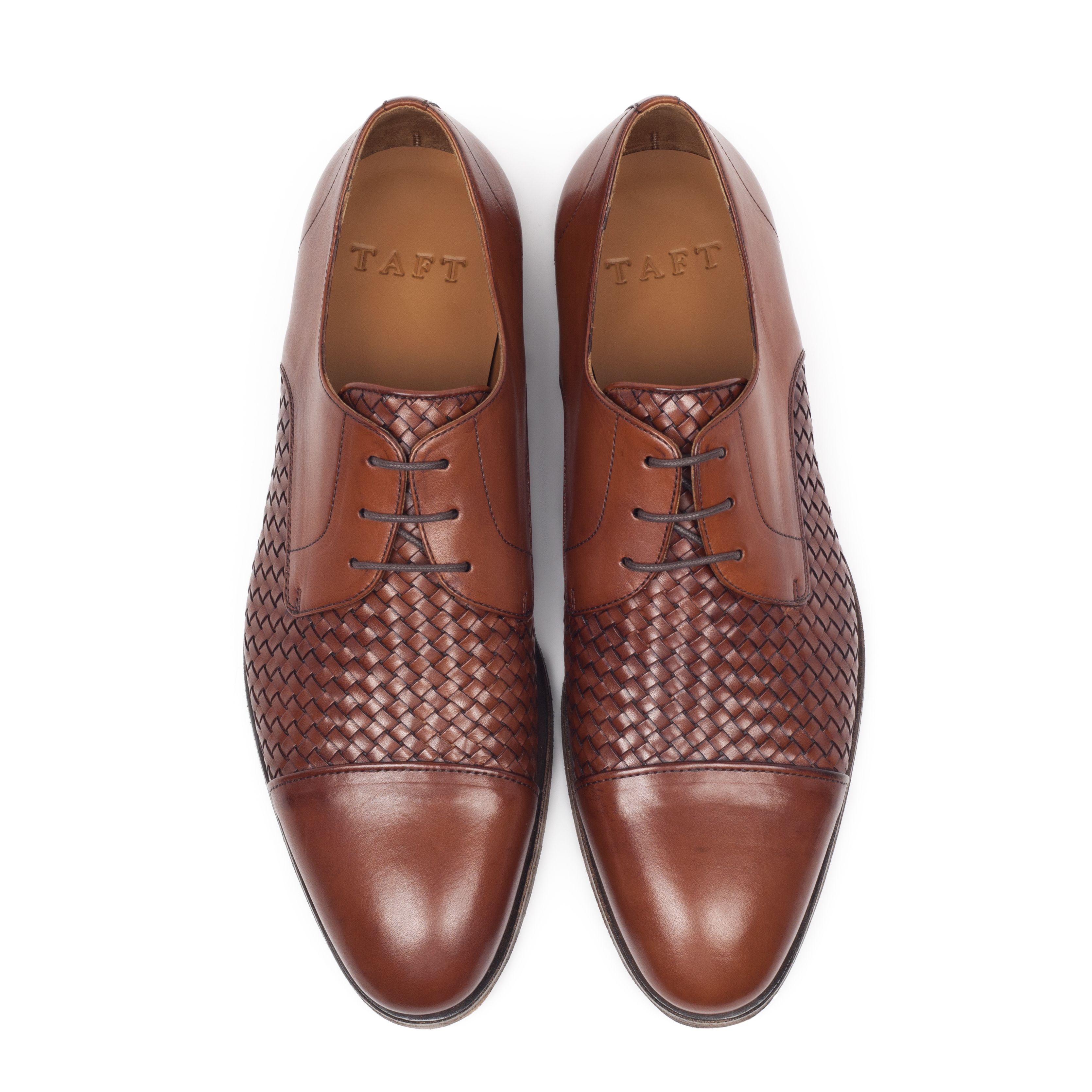 Meet the Lucca in Cognac. This is a captoe lace up with