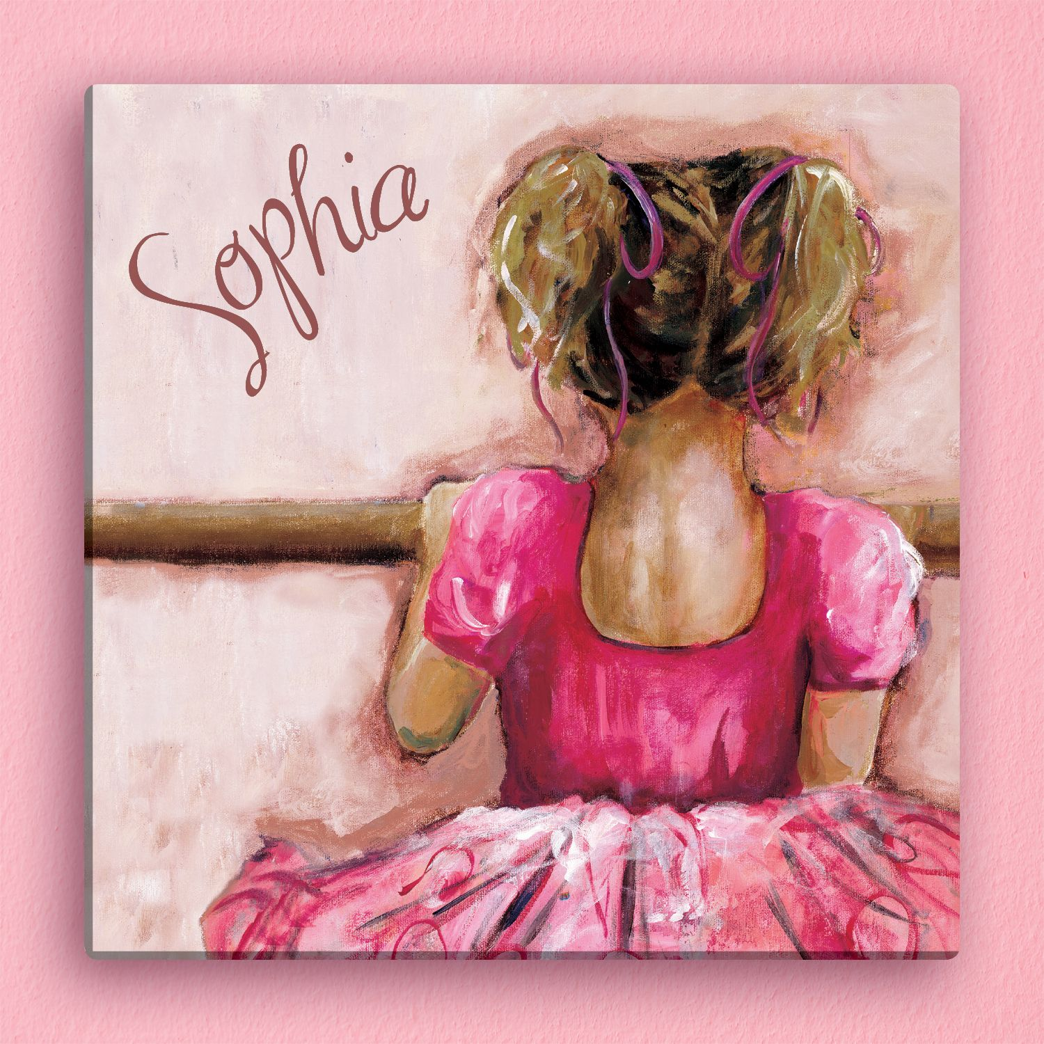 Ballerina Personalized 12x12 Canvas - Room Decor - Kids | Personalized Planet