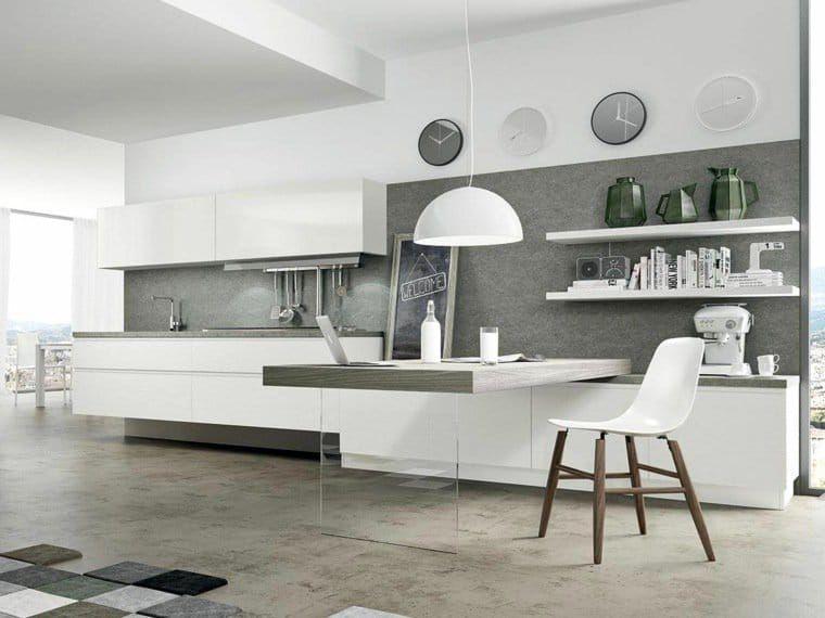 Tout le monde dit oui à la cuisine moderne blanc laqué