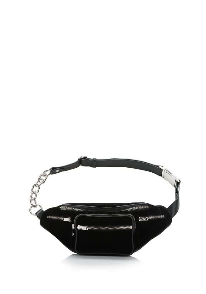 0eff431acf9 ALEXANDER WANG ATTICA FANNY PACK IN BLACK VELVET Shoulder bag Adult 12 n f