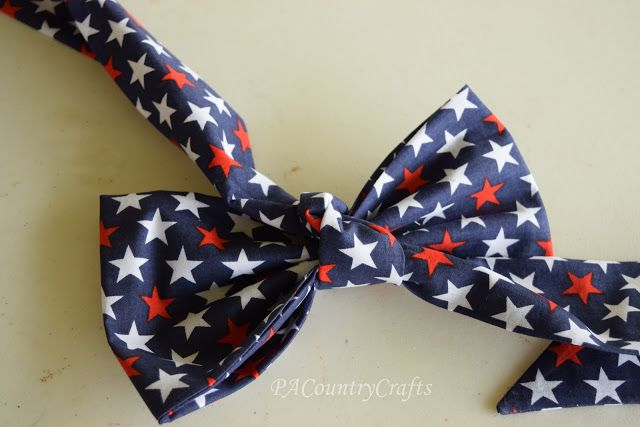 DIY Fabric Bow ~ Pattern and Tutorial — PACountryCrafts