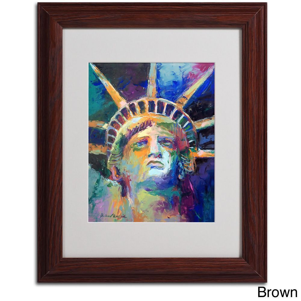 Richard Wallich 'Statue' Framed Matted Art