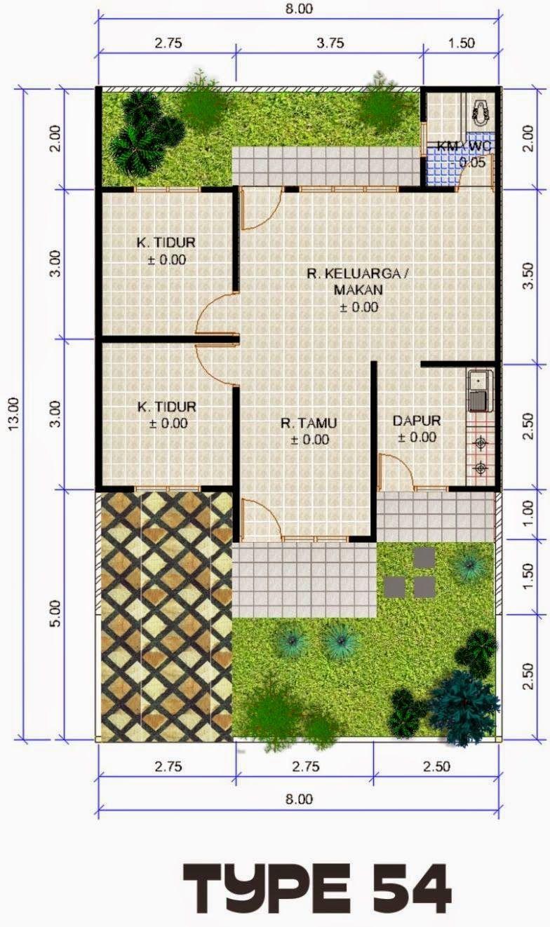 Desain Rumah Minimalis Type 54 Adalah Jenis Rumah Yang Paling Pesat Perkembangannya Di Era Sekarang Warna Juga Desain Rumah Denah Rumah Kecil Rumah Minimalis
