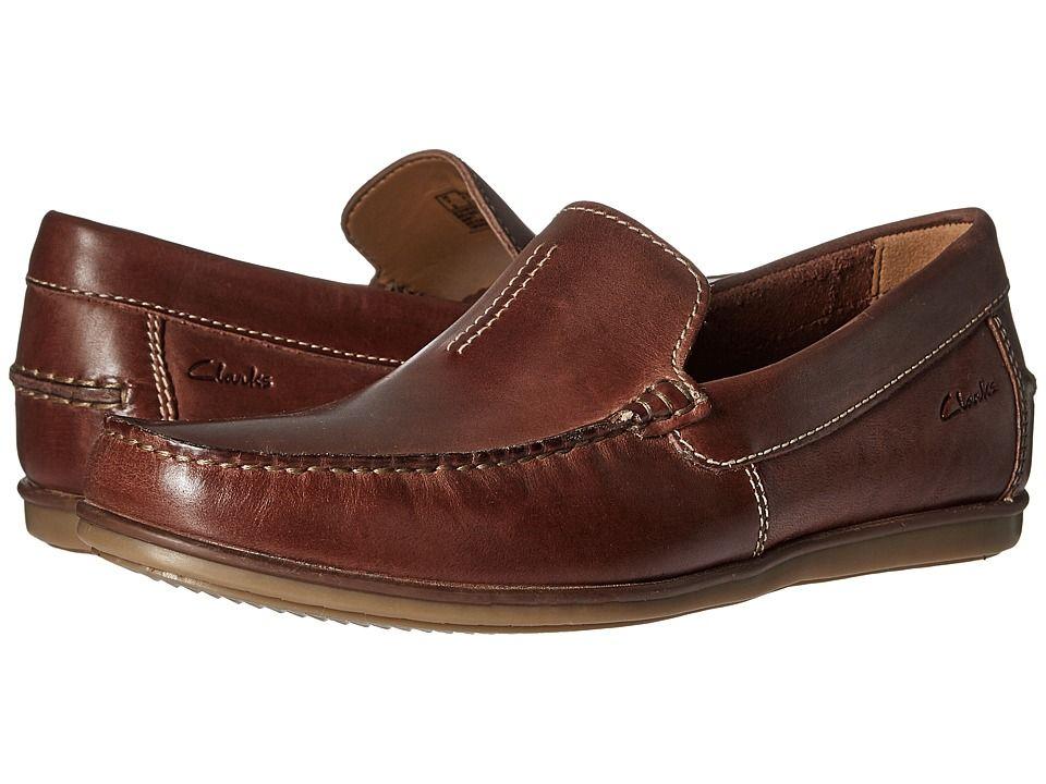 CLARKS CLARKS - BRISTOW RACE (COGNAC LEATHER) MEN'S SHOES. #clarks #shoes