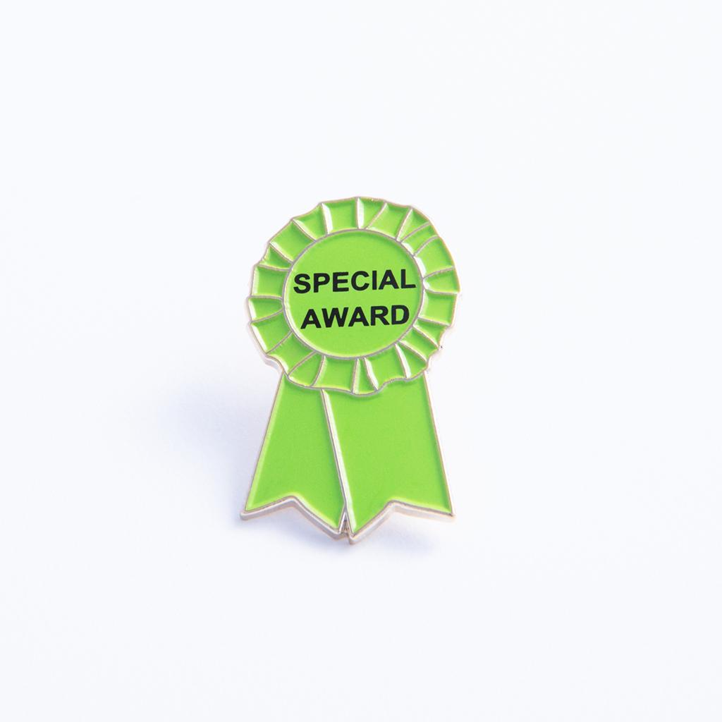Special Award Ribbon Pin | Products | Ribbon, Awards, Green