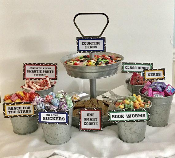graduation candy signs set